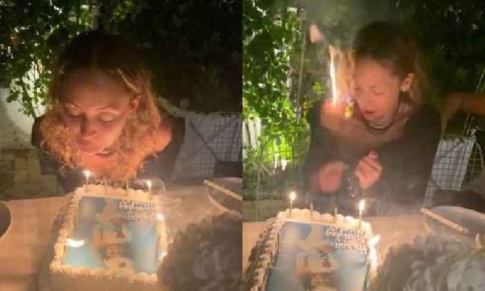 WATCH: Nicole Richie Accidentally Sets Herself On Fire While Blowing Out 40th Birthday Candles