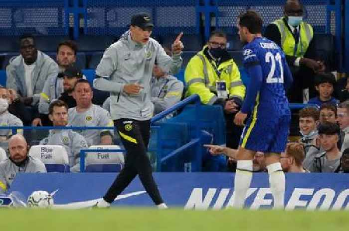 Thomas Tuchel in outburst at Ben Chilwell just minutes into Chelsea's Carabao Cup clash