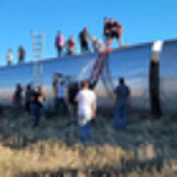 Three people killed, dozens injured after Amtrak train derails in Montana