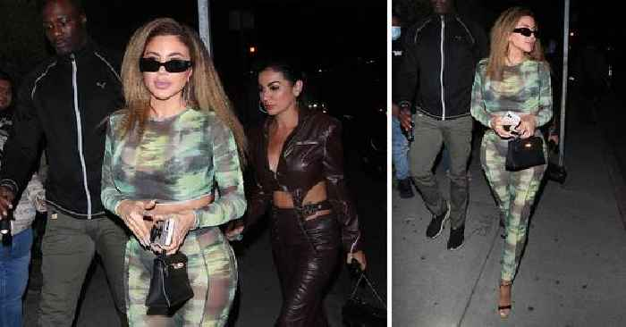 Larsa Pippen Wasn't Afraid To Tease The Cameras At Cardi B's Birthday Party Wearing Sheer Green Tie-Dye Top & Bottom — Get The Look
