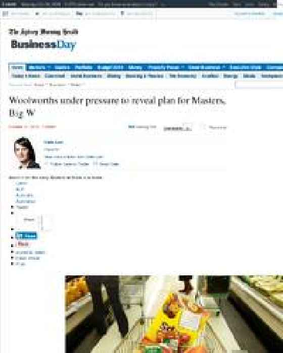 Woolworths Under Pressure To Reveal Plan For Masters Big