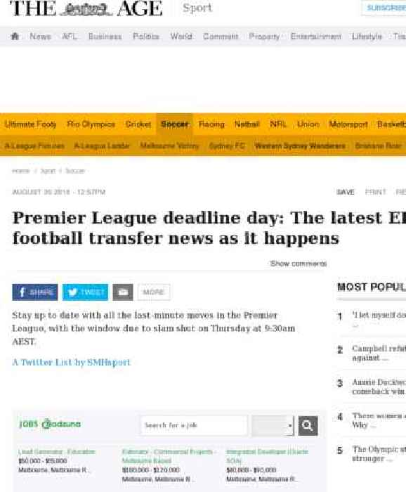 Deadline Day All The Transfers As They Happened: Premier League Deadline Day: The Latest EPL Football