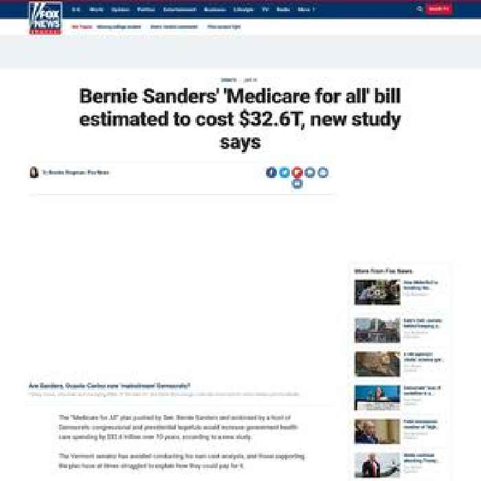 Bernie Sanders' 'Medicare For All' Bill Estimated To Cost