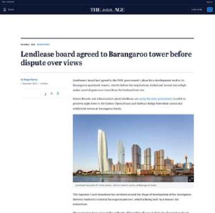 Highlands Ranch Shooting Update: Lendlease Board Agreed To Barangaroo Tower Before Dispute