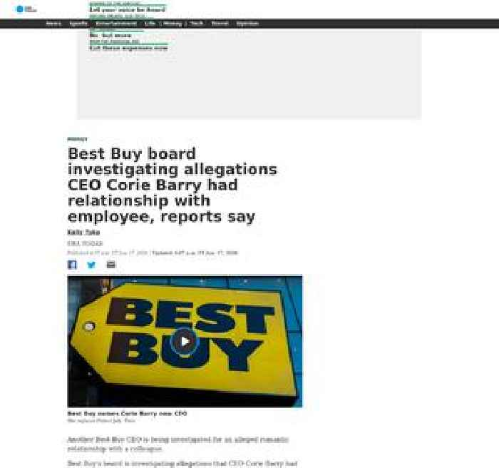 Best Buy board investigating allegations CEO Corie Barry had relationship with employee, reports say