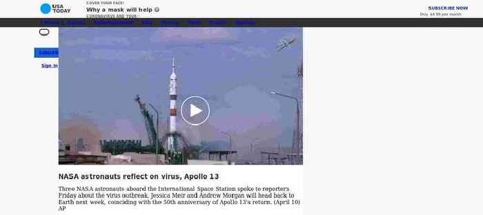 NASA astronauts reflect on virus, Apollo 13