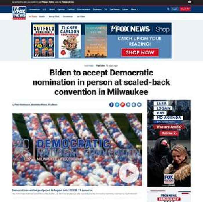 Biden to accept Democratic nomination in person at scaled-back convention in Milwaukee