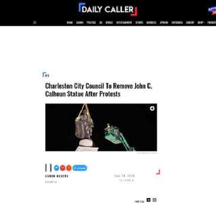 Charleston City Council To Remove John C. Calhoun Statue After Protests