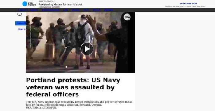 US Navy veteran was beaten and pepper-sprayed by federal officers during Portland protest