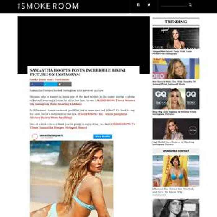 Samantha Hoopes Posts Incredible Bikini Picture On Instagram