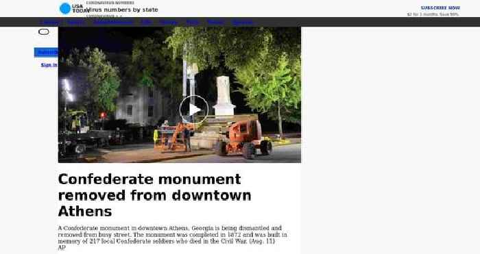 Confederate monument removed from downtown Athens