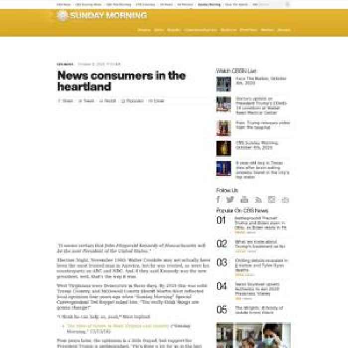News consumers in the heartland