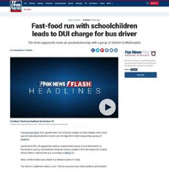 Fast Food Run With Schoolchildren Leads To Dui Charge One News Page Police images show a man who police say boarded a parked bus in the jamaica section of queens last tuesday, then drove around. one news page