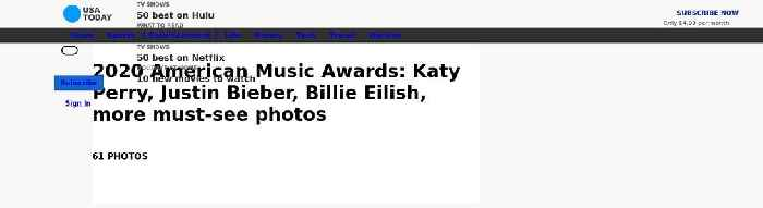 2020 American Music Awards: Katy Perry, Justin Bieber, Billie Eilish, more must-see photos