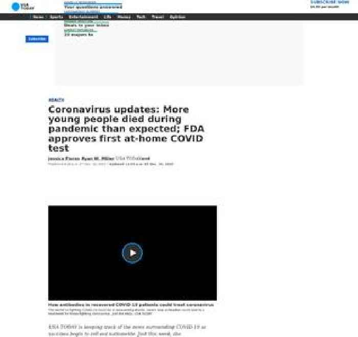 Coronavirus updates: Texas joins California as only states with 1.5M cases; FDA approves first at-home COVID test; 303K US deaths