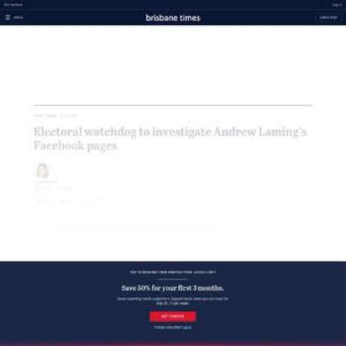 Electoral watchdog to investigate Andrew Laming's Facebook pages