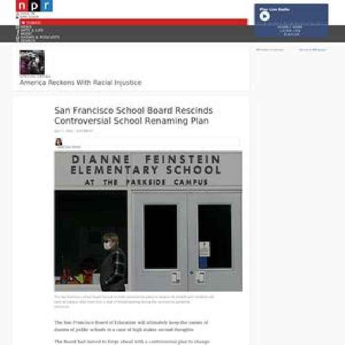San Francisco School Board Rescinds Controversial School Renaming Plan