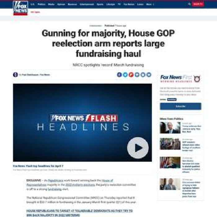 Gunning for majority, House GOP reelection arm reports large fundraising haul
