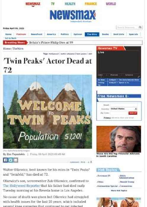 'Twin Peaks' Actor Dead at 72