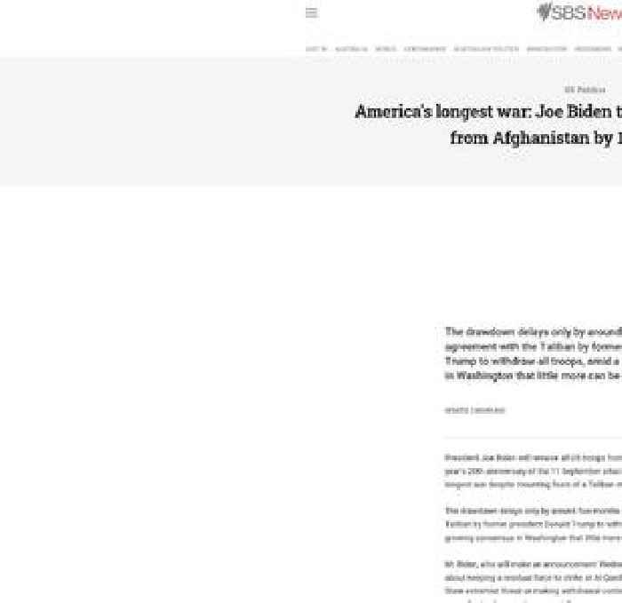 America's longest war: Joe Biden to withdraw all US troops from Afghanistan by 11 September