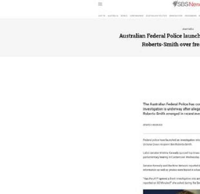Australian Federal Police launch investigation into Ben Roberts-Smith over fresh allegations