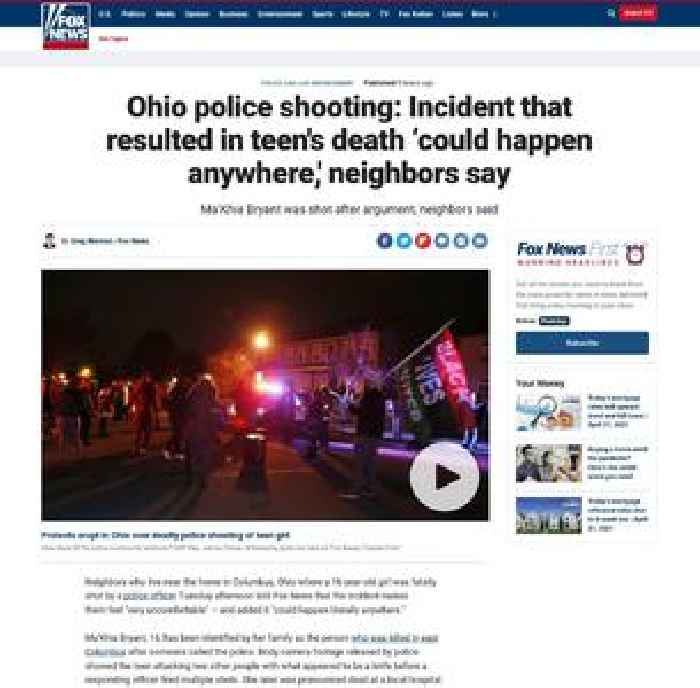 Ohio police shooting: Incident that resulted in teen's death 'could happen anywhere,' neighbors say