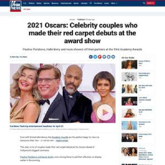 2021 Oscars: Celebrity couples who made their red carpet debuts at the award show