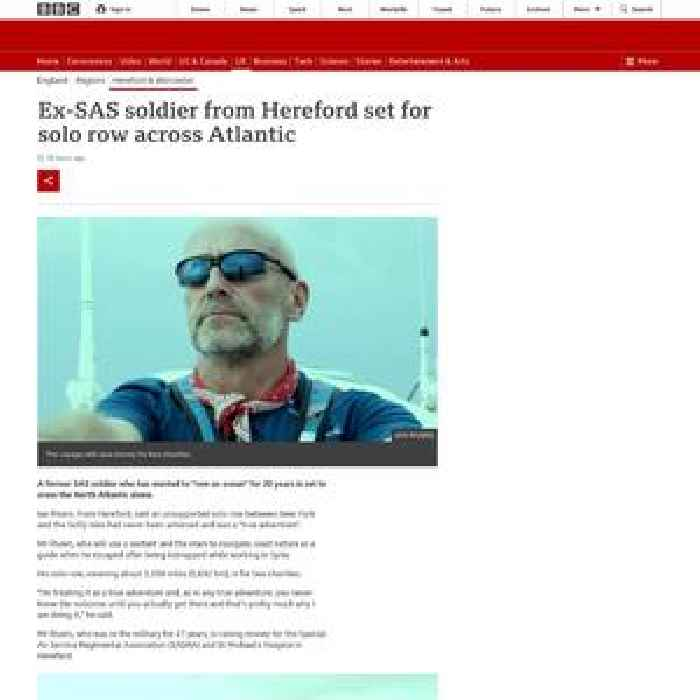 Ex-SAS soldier from Hereford set for solo row across Atlantic
