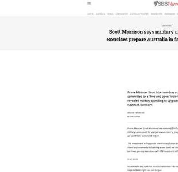 Scott Morrison says military upgrades for wargame exercises prepare Australia in face of 'uncertain world'