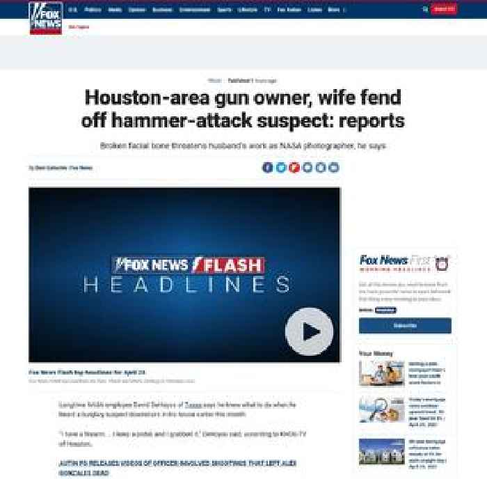 Houston-area gun owner, wife fend off hammer-attack suspect: reports