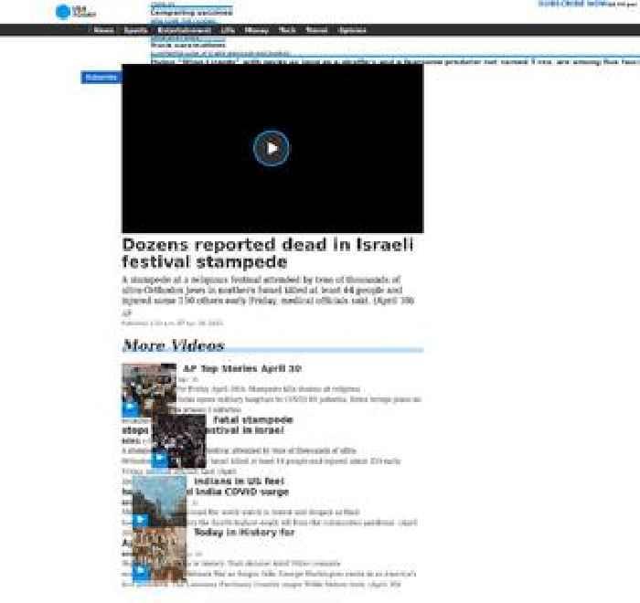 Dozens reported dead in Israeli festival stampede