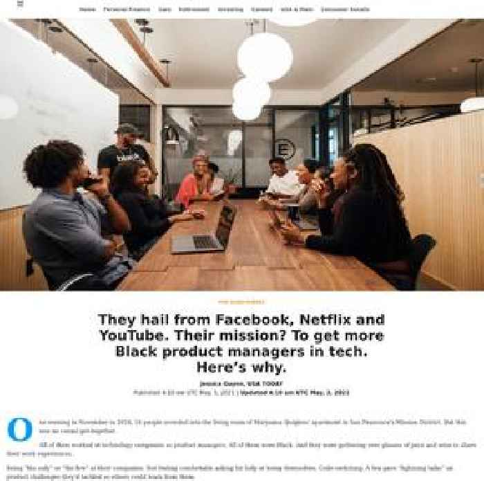They hail from Facebook, Netflix and YouTube. Their mission? To get more Black product managers in tech. Here's why.