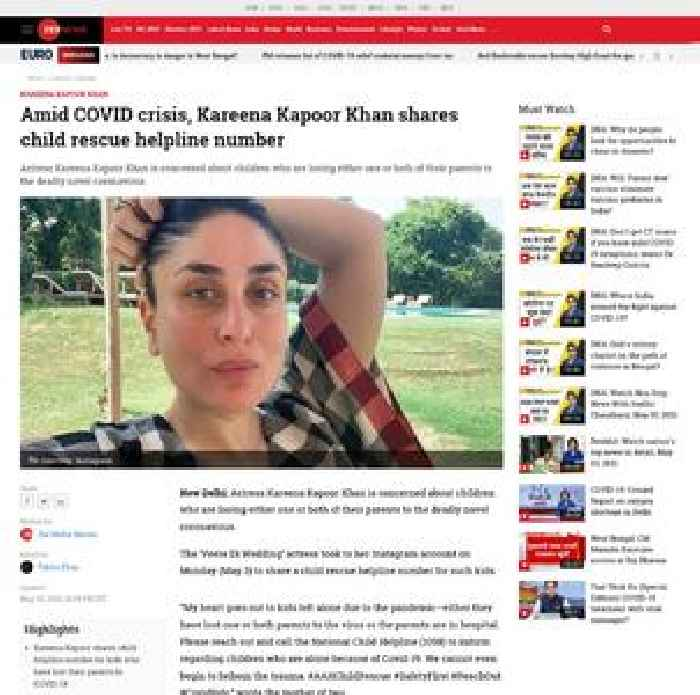 Amid COVID crisis, Kareena Kapoor Khan shares child rescue helpline number