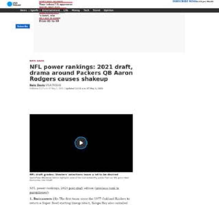 NFL power rankings: 2021 draft, drama around Packers QB Aaron Rodgers causes shakeup