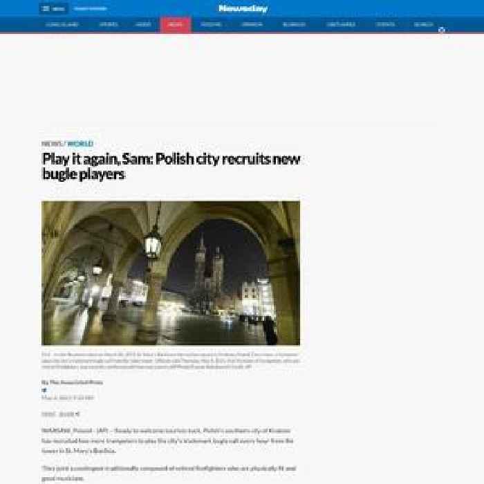 Play it again, Sam: Polish city recruits new bugle players