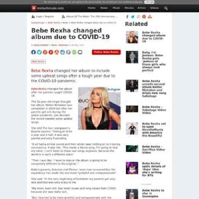 Bebe Rexha changed album due to COVID-19