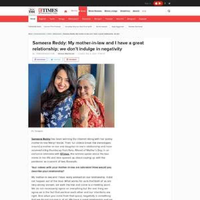 Sameera Reddy: Love my mom's zest for life