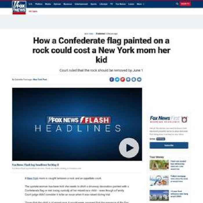 How a Confederate flag painted on a rock could cost a New York mom her kid