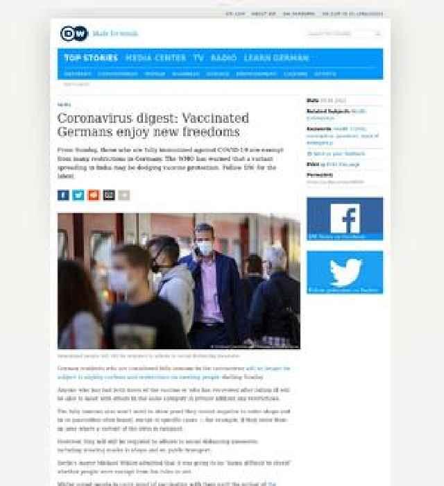 Coronavirus digest: Vaccinated Germans enjoy new freedoms