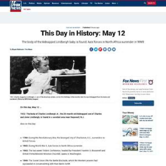 This Day in History: May 12