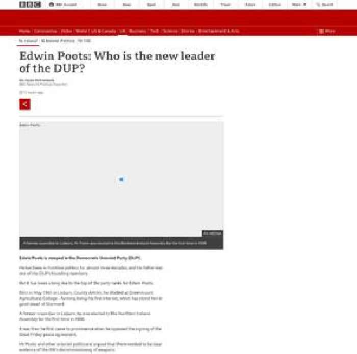 Edwin Poots: Who is the new leader of the DUP?