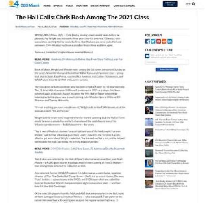 The Hall Calls: Chris Bosh Among The 2021 Class