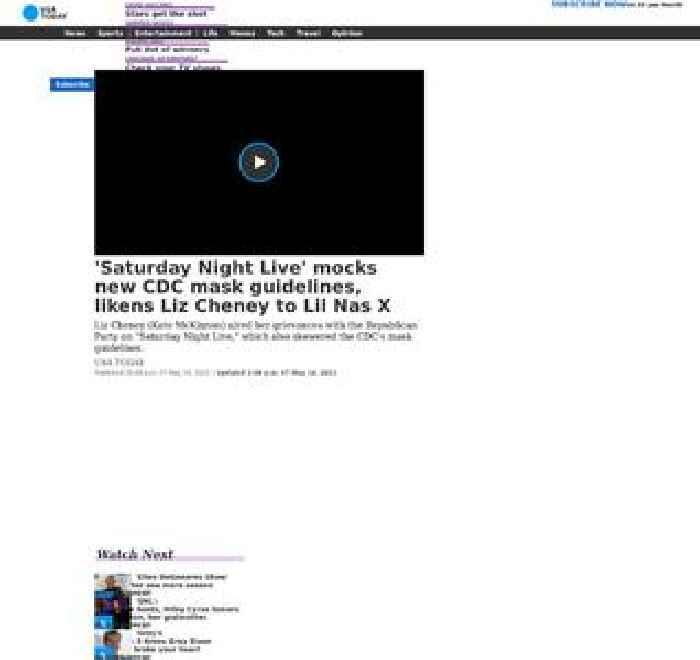'Saturday Night Live' mocks new CDC mask guidelines, likens Liz Cheney to Lil Nas X