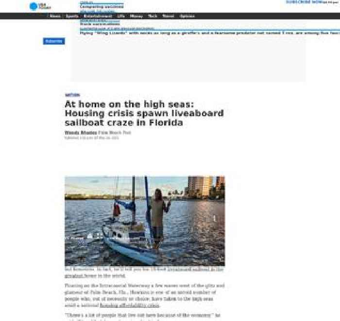 At home on the high seas: Housing crisis spawn liveaboard sailboat craze in Florida