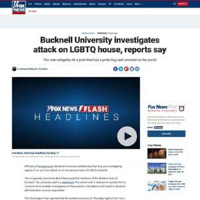 Bucknell University investigates attack on LGBTQ house, reports say