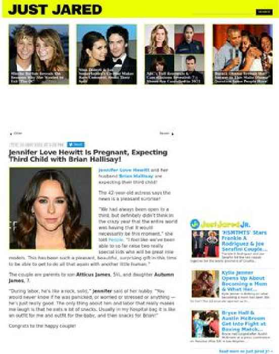 Jennifer Love Hewitt Is Pregnant, Expecting Third Child with Brian Hallisay!