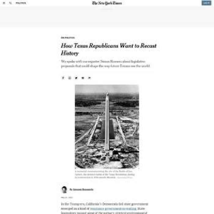 How Texas Republicans Want to Recast History