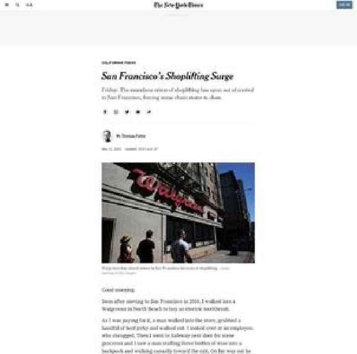 San Francisco's Shoplifting Surge