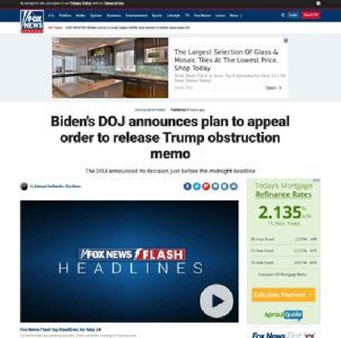 Biden's DOJ announces plan to appeal order to release Trump obstruction memo
