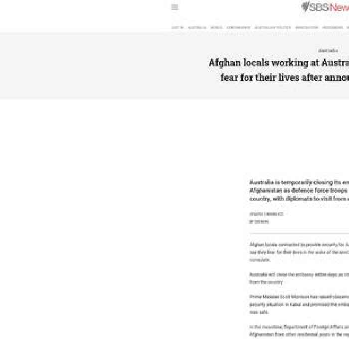 Australia closes embassy in Afghanistan, citing uncertain security environment